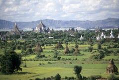 Templos na planície pagã fotografia de stock