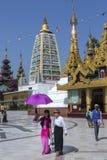 Complexo do pagode de Shwedagon - Yangon - Myanmar Fotos de Stock Royalty Free