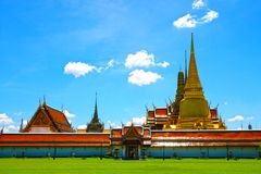 Templos tailandeses, Wat Phra Kaew Fotografia de Stock Royalty Free
