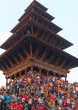 Templos y festivales, Nepal Imagen de archivo