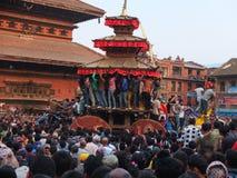 Templos y festivales, Nepal Fotografía de archivo