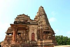 Templos y sus esculturas eróticas, la India de Khajuraho Imágenes de archivo libres de regalías