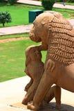 Templos y sus esculturas eróticas, la India de Khajuraho Imagen de archivo libre de regalías