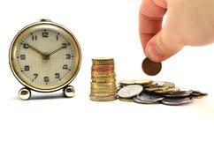 Tempo é dinheiro conceito Fotos de Stock Royalty Free