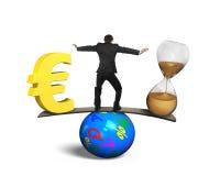 Tempo é dinheiro conceito ilustração royalty free