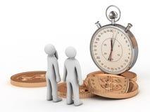 Tempo é dinheiro. Conceito do negócio Fotografia de Stock Royalty Free