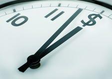 Tempo é dinheiro (dólar) Fotografia de Stock Royalty Free