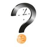 Tempo é dinheiro: esta é a pergunta Fotos de Stock