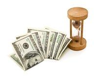 Tempo é dinheiro. Isolado no branco Fotos de Stock Royalty Free