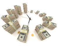 Tempo é dinheiro. no branco Imagens de Stock Royalty Free