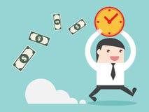 Tempo é dinheiro no negócio Foto de Stock Royalty Free