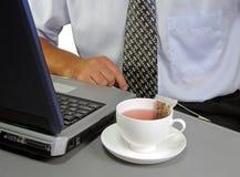 Tempo 2 del tè di affari Immagine Stock