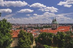 Tempo agradável em Praga Fotos de Stock Royalty Free