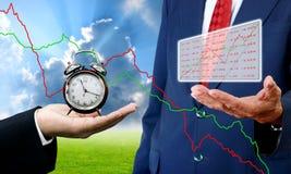 Tempo al concetto di investimento Immagini Stock Libere da Diritti
