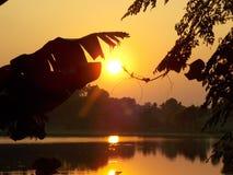 Tempo al tramonto Fotografia Stock