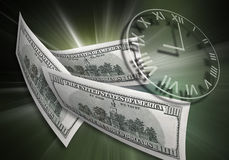 Tempo & concetto dei soldi Fotografia Stock Libera da Diritti