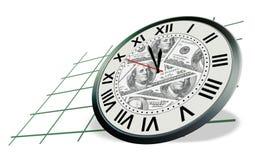 Tempo & concetto dei soldi Fotografia Stock