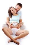 Tempo ao nascimento imagem de stock
