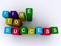 Tempo ao sucesso Fotografia de Stock Royalty Free