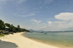 Tempo balsamico sulla spiaggia Fotografie Stock