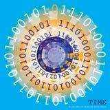 Tempo binário Fotografia de Stock