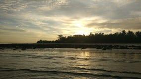 Tempo bonito de surpresa Cox& x27 da vista; sBazar, Bangladesh foto de stock royalty free