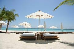 Tempo calmo della spiaggia immagine stock