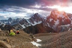 Tempo cambiante del campo di elevata altitudine Fotografie Stock Libere da Diritti