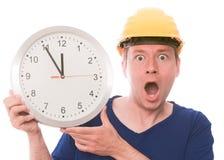 Tempo chocante da construção foto de stock