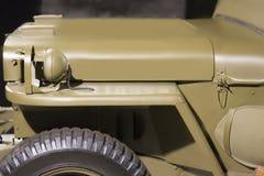 Tempo d'annata militare americano del veicolo WW2 Vista laterale immagini stock