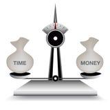 Tempo d'equilibratura e soldi Fotografia Stock Libera da Diritti