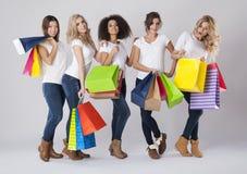 Tempo da compra! imagem de stock