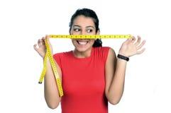 Tempo da dieta da mulher foto de stock