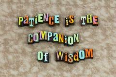 Tempo da educação da sabedoria do companheiro da paciência ilustração royalty free