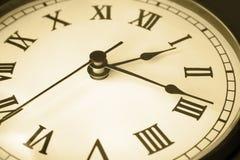 Tempo da face do relógio Imagem de Stock