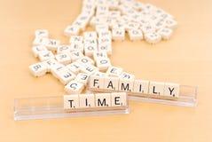 Tempo da família fotografia de stock