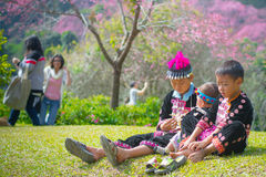 Tempo da família em Khun Chang Kian Foto de Stock