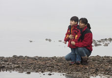 Tempo da matriz e do filho. Fotos de Stock