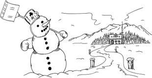 Tempo da neve Imagens de Stock Royalty Free