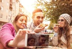 Tempo da pizza Fotografia de Stock