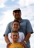 Tempo da qualidade-- Pai e filhos fotos de stock
