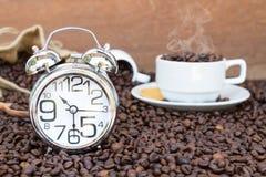 Tempo da ruptura de café Imagem de Stock