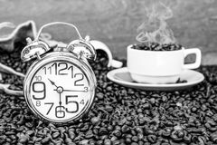 Tempo da ruptura de café Imagem de Stock Royalty Free