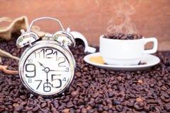 Tempo da ruptura de café Fotografia de Stock