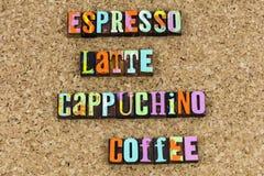 Tempo da ruptura de café do cappuchino do latte do café imagens de stock royalty free