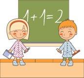 Tempo da sala de aula da matemática Imagem de Stock Royalty Free