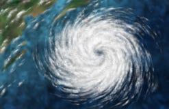 Tempo da tempestade do furacão Ilustração do Vetor