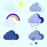 Tempo das nuvens Imagem de Stock Royalty Free