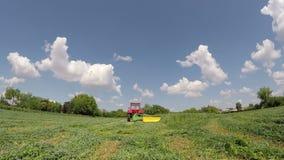 Tempo de colheita no filme do verão com som vídeos de arquivo