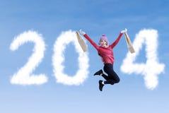 Tempo de compra do ano novo 2014 Foto de Stock Royalty Free